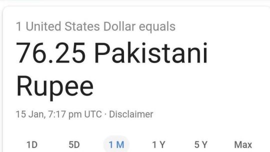 Google Currency Converter Glitch in Pakistan