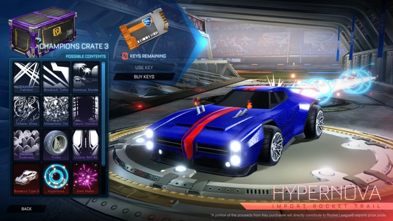 Rocket League Lootboxes