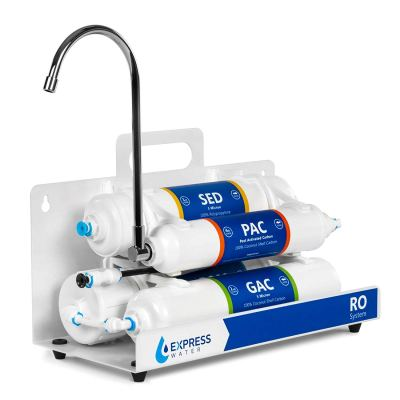 Countertop Reverse Osmosis Water Filtration System – 4 Stage RO Water Filter with Faucet