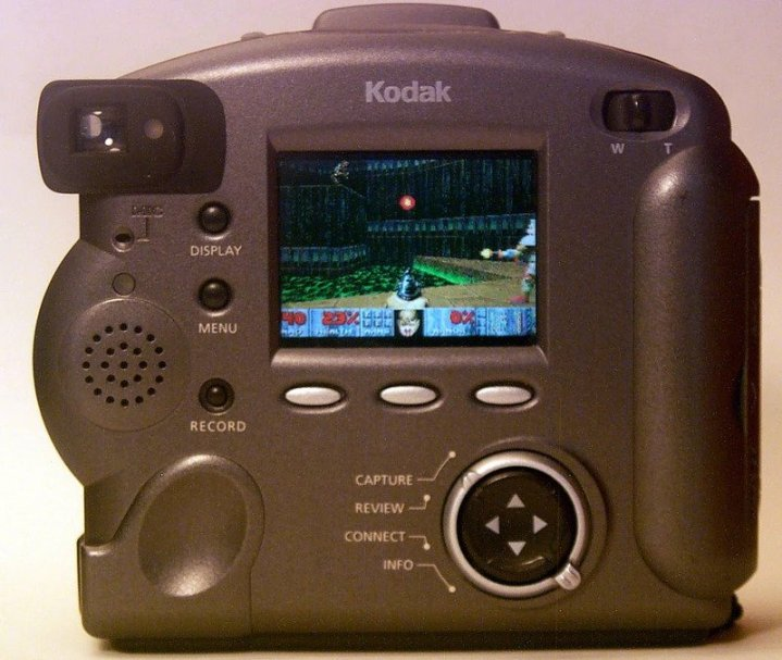 DOOM running on early Kodak camera