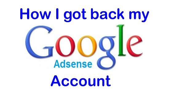 Google Adsense How to get back