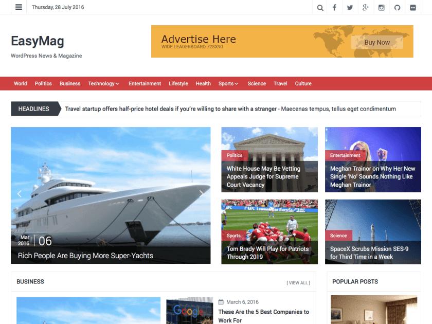7 temas de WordPress Gratis - Facturación Web