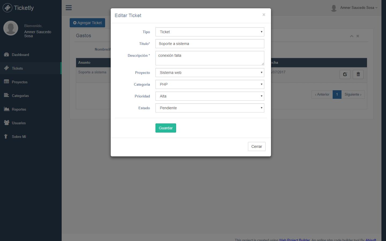 Sistema de Tickets y Soporte con PHP y MySQL - Facturación Web