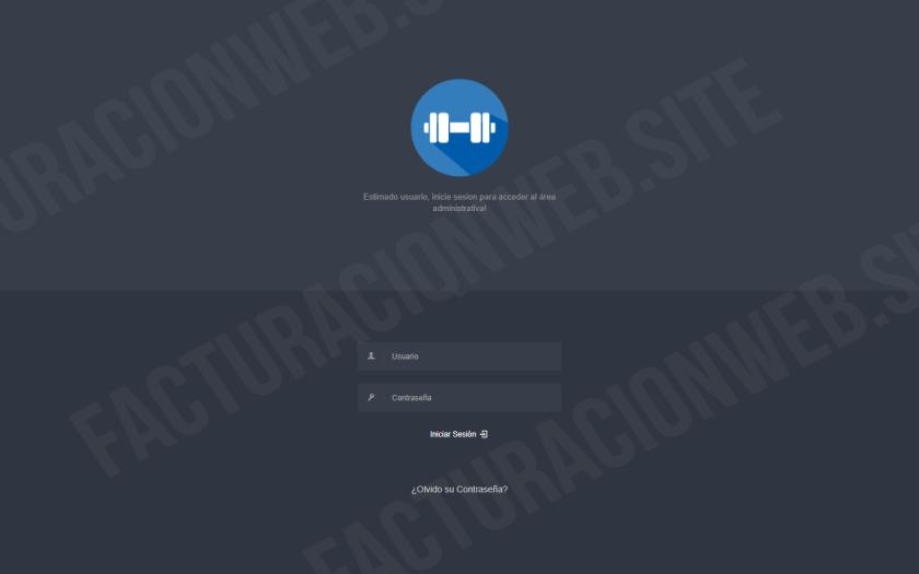 Modulo Inicio de Sesión – Sistema Gimnasio PHP