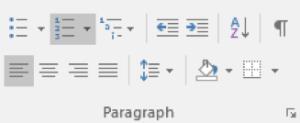 Microsoft Word Lists