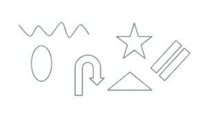 Various shape outlines