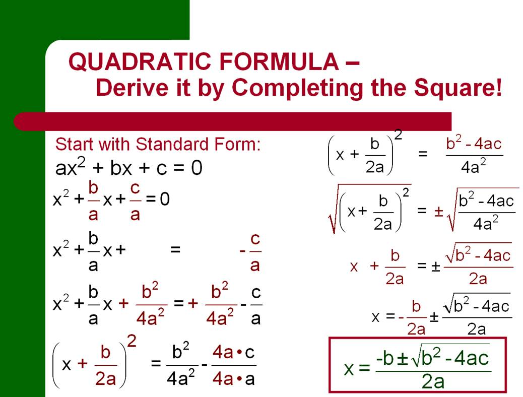What Is The Quadratic Equation Used For