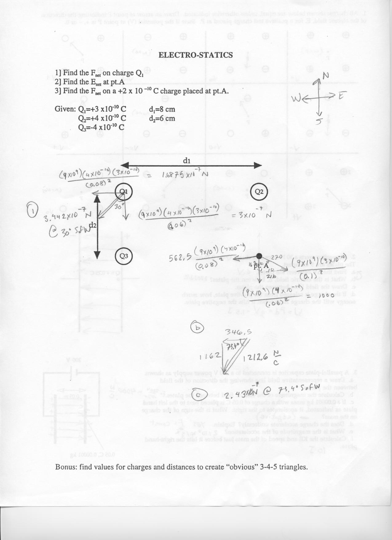 Classnotes Class 12 Physics Notes Electrostatics Exercise 2