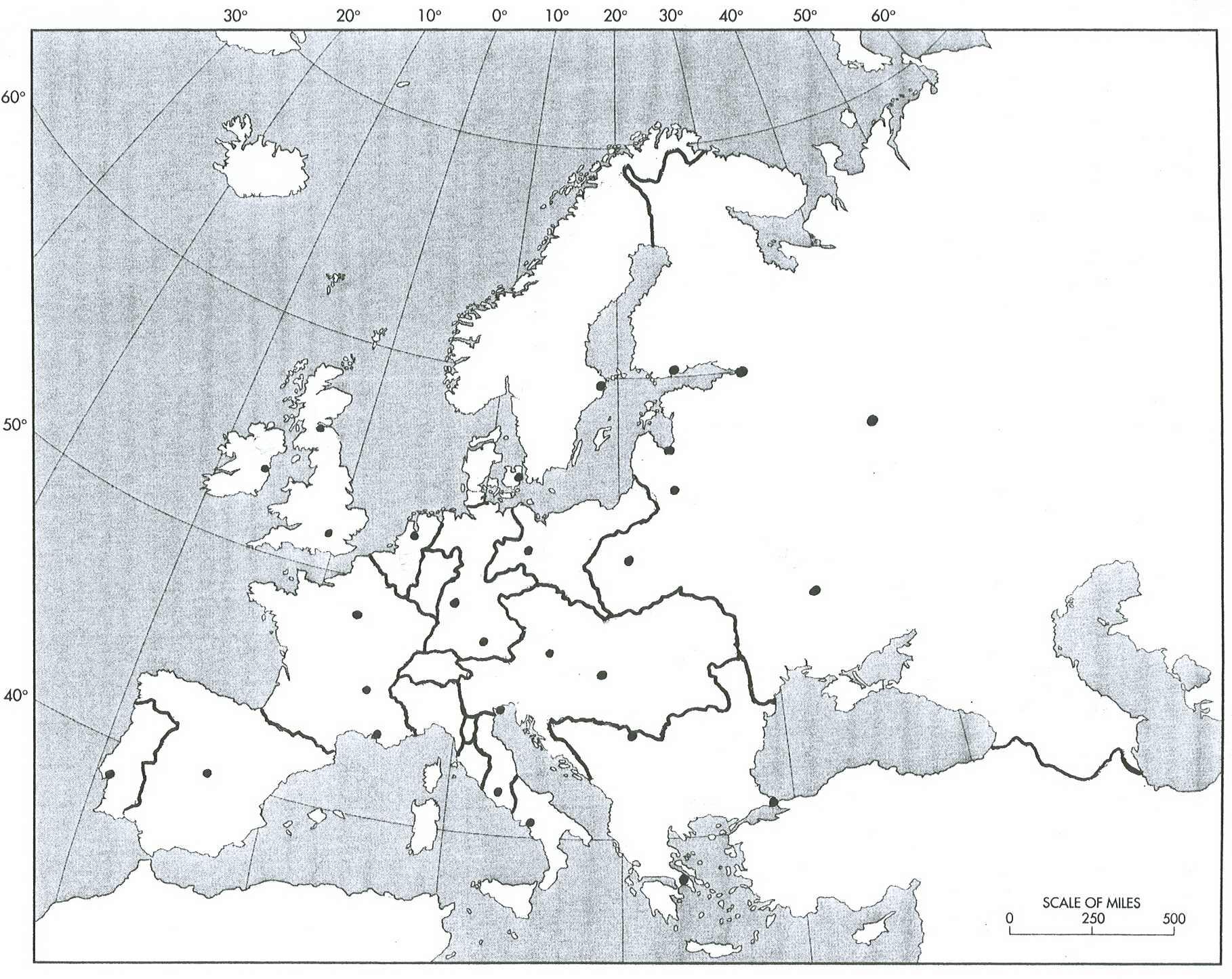 Blank Map Napoleonic Europe