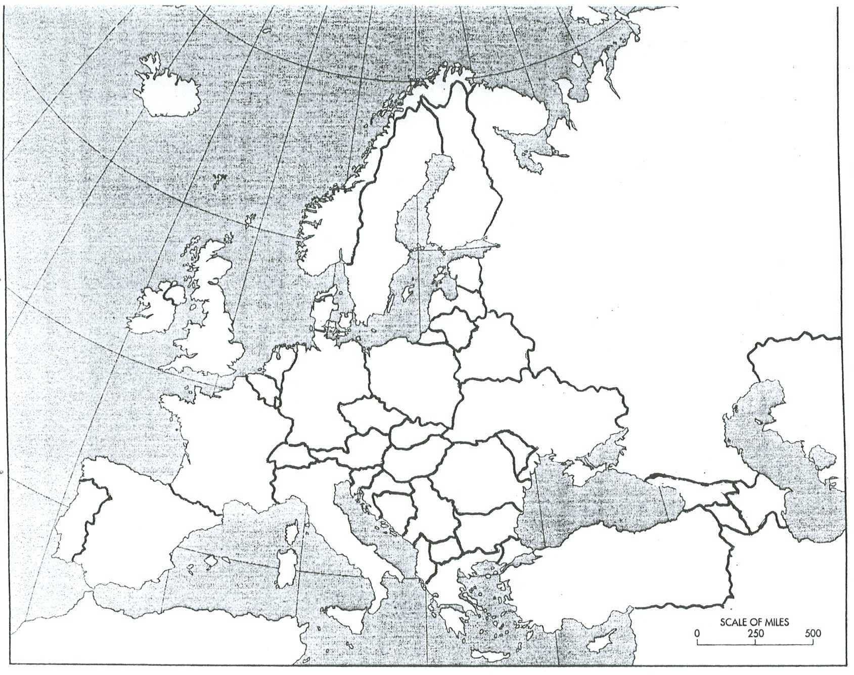 Blank Map Europe