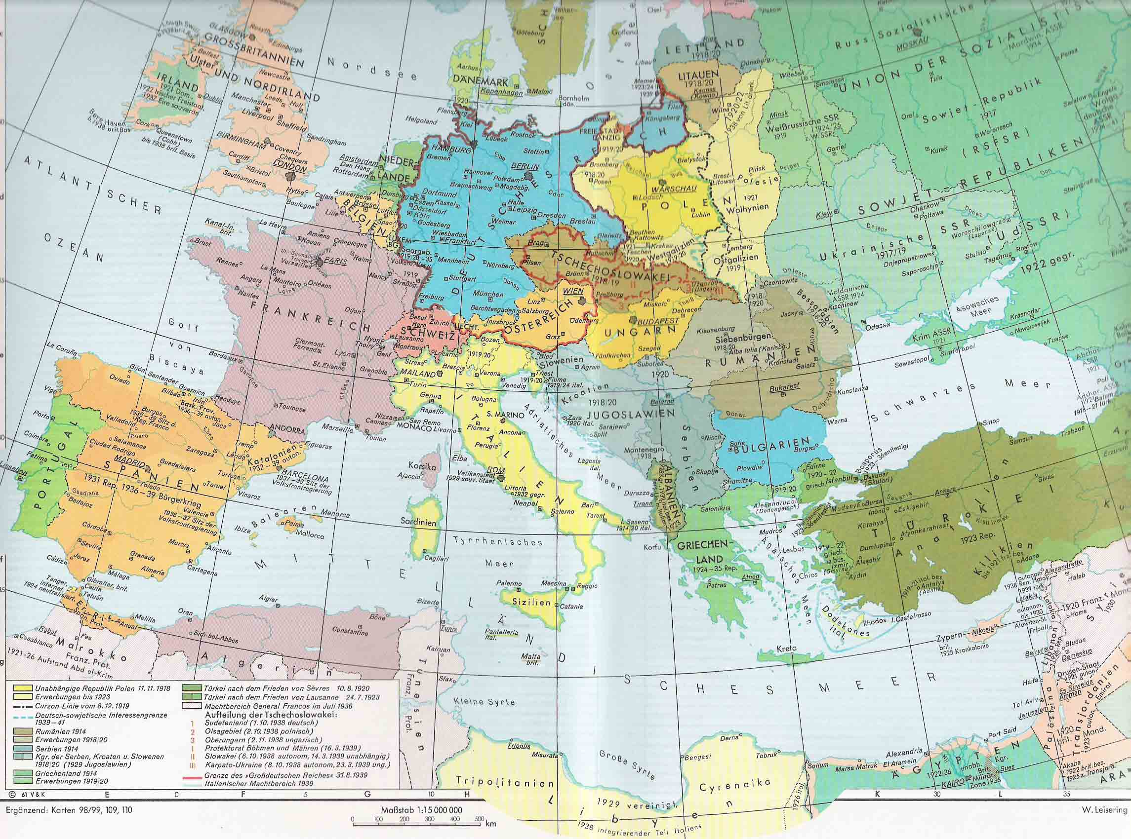Europe 1939 Late Map