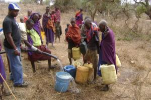 Some of the masai women getting water