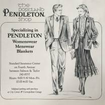 Pendleton: catering to fashionably dressed neck-less couples.