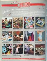 1988 Portland Galleria ad. The Galleria was really THE place to shop downtown and frankly there was not a lot of competition until the Pioneer Place opened and wiped it out. Sad because, with the exception of Benetton, I think these were all local shops.