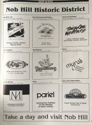 1988 Nob Hill business directory. Not a single one of these is still in business.