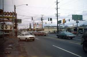 SE. 82nd and Powell, Portland, 1975. A no-man's land of noise and traffic.