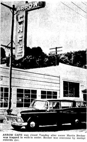 The Arrow Cafe. August, 1960. Photo: Oregonian