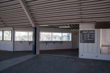 Barbur Blvd Transit center interior. One step above nothing. Photo courtesy: John Dornoff, 2014