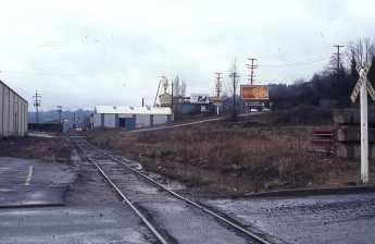 SW Bancroft at Moody. Portland, OR. February, 1974