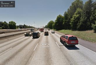 I-5 at 60th, Seattle, WA. Photo: Google, 2014