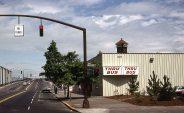Portland, Oregon Bus station, Corner of NW Broadway and Glisan, 1978