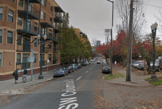 SW Columbia at 18th Ave, Nov. 2015 --View Full Size below--