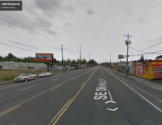 SE Division St near 122nd, Looking E. Photo: Google, 2016