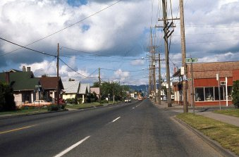 SE Powell Blvd at 60th Ave, May 1977. Portland, OR.