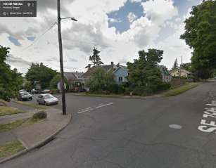 SE 76th at Yamhill St, Portland, OR. Photo: Google, 2016