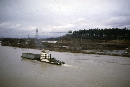 View from the Sellwood Bridge, looking North. Nov. 1981