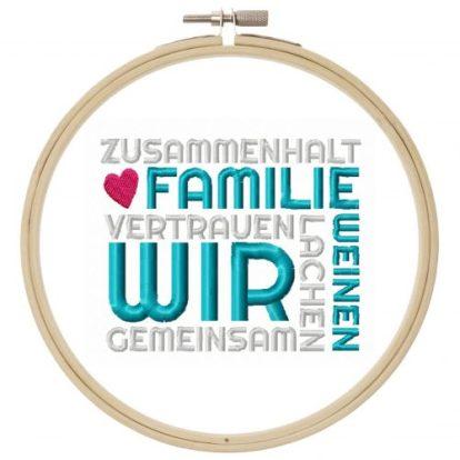 Spruch Mosaik Familie