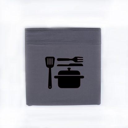 Bügelbild Ordnung Box Küche