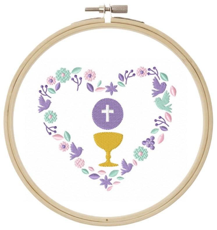 Herz Gotteslob Christlich Stickdatei