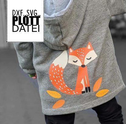 Waldbewohner Fuchs Plotterdatei