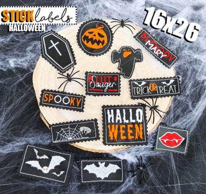 Stick Label Halloween 16x26