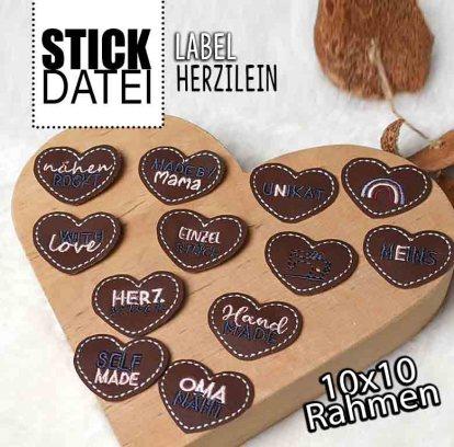 Handmade Herzilein Stick Label