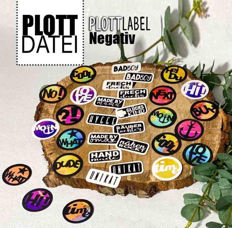 Plott Label Negativ Plotterdatei