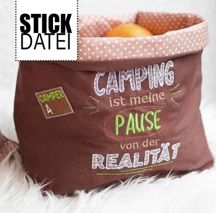 Camping Realitat Stickdatei