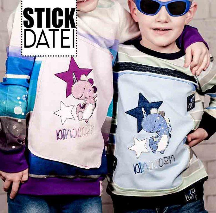 Doodle Dinocorn Sticklabel
