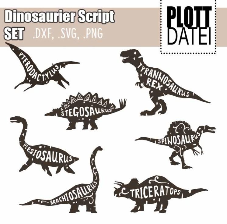 Plotterdatei Dinosaurier Script