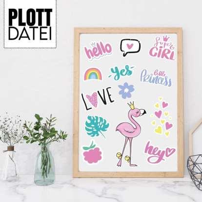 Flamingo Set Plotterdatei