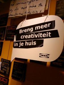 Creativiteit, op de posterafdeling van Ikea