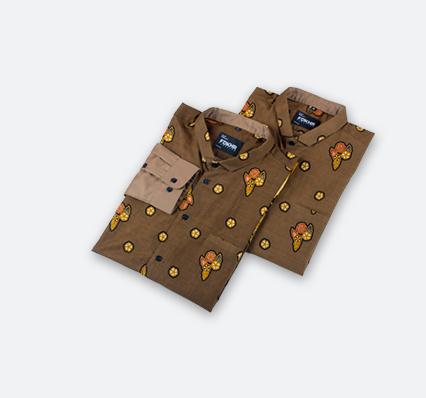 Batik kombinasi polos 2019