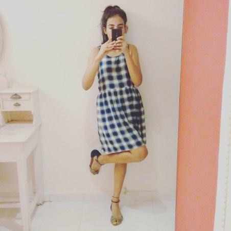 I wore my plaid school girl forever 21 dress with Charles and Keith Sandals   Chai High is an Indian Fashion Blog started by Shivani Krishan
