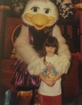 My 8th birthday party at Chuck E Cheese.
