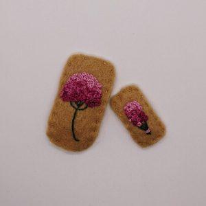 floral barrette and mini floral barrette