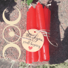 Red spell chime candles
