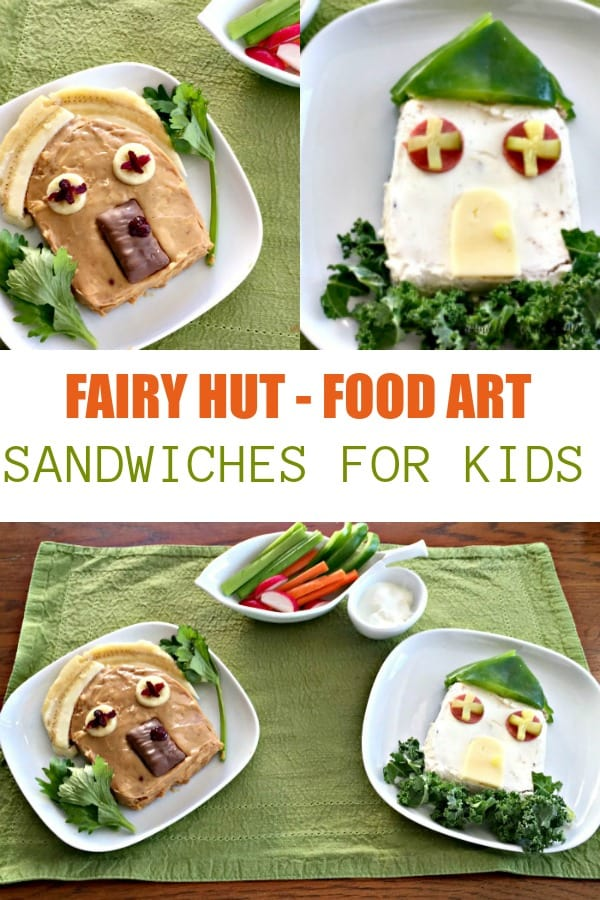 Food Art Sandwiches for introducing new foods to children as a lunch idea.