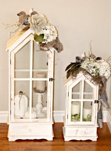DIY, Floral Arranging, Lanterns, Fall, Neutrals
