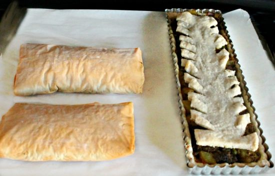 Filo, Pie, Savory, Fall, Recipe